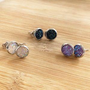 💥New💥Druzy Stud Earrings